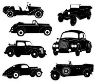 Old car silhouette Stock Images