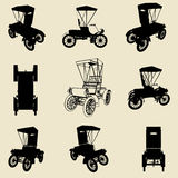 old car silhouette set Royalty Free Stock Photography