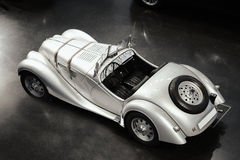 Old silver car, retro Royalty Free Stock Images