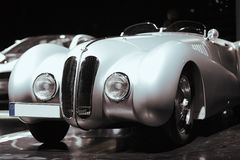 Old silver car, retro Royalty Free Stock Image