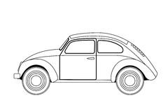 Old car sketch Stock Photography
