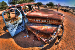 Old car at Solitaire Royalty Free Stock Photos