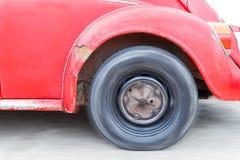 Old car speed up Stock Photos