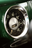 Old car speedometer. A speedometer in an old car Stock Photos