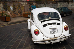 Old car in a street of Cuenca in Ecuador, Stock Photography