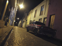 OLD CAR IN THE STREET OF HAVANA Stock Image