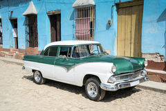 Old car on street in Cuba. An old classic car in the street in Cuba Stock Photography