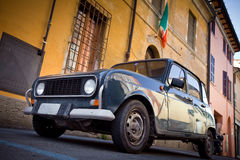 Old car on the street in Italy Stock Image