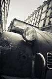 Old car in a street in Paris stock photography