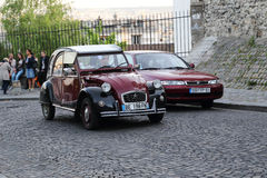 Old car on the streets of Montmartre Royalty Free Stock Photos
