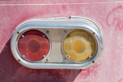 Old car tail lights. Old automobile vehicle tail lights royalty free stock photo