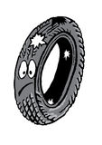 Old car tire Stock Photography