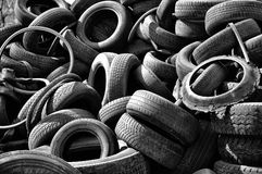Old car tires Royalty Free Stock Photo