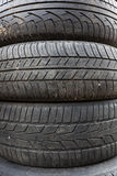 Old car tires Royalty Free Stock Images