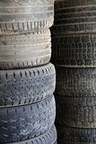 Old car tires Royalty Free Stock Photos