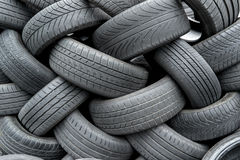 Old car tires Stock Image