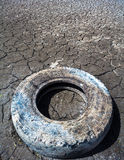 Old car tyre Royalty Free Stock Image