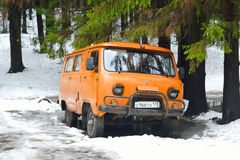 Old car UAZ 452. Royalty Free Stock Images