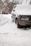 The old car under snow Stock Photography