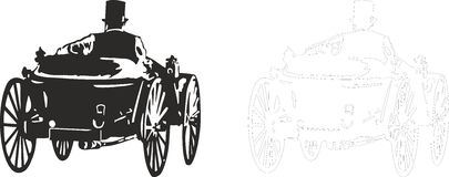 OLD CAR. Vector illustration of an old car Stock Image
