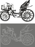 Old car. Vector illustration of an old car Royalty Free Stock Image