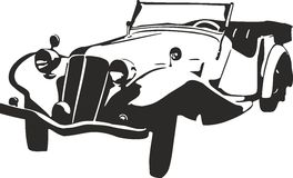 Old car. Vector illustration of an old car Stock Photography