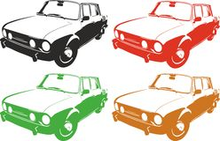 OLD CAR. Vector illustration of an old car. suitable for cutter plotter Stock Photos