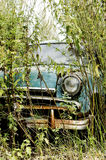 Old car. Old car victory overgrown with nettles Stock Photo