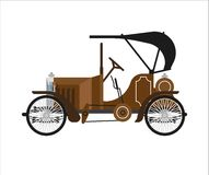 Old car or vintage retro collector auto vector flat icon Stock Photography