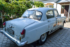 Old car Volga. Restored vintage car. The legacy of the Soviet er Royalty Free Stock Photography