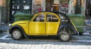 Old car Volkswagen Beatle, Porto. Portugal Stock Images