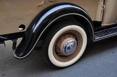 Old car wheel Royalty Free Stock Photos