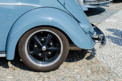 Old car wheel in a show Royalty Free Stock Image