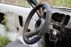 Old car wheel stock image