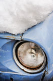 Old car in winter Royalty Free Stock Photo