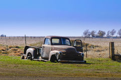 Old car wreck royalty free stock image