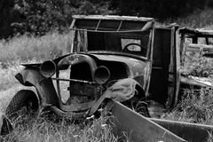 Old car wreck Stock Images