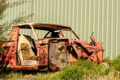 Old car wreck. Stock Photo