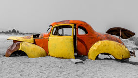 Old Car Wreck stock photography