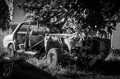 Old Car Wreckage Stock Image