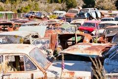 Old Car Wrecking Yard Stock Photography