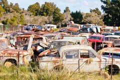 Old Car Wrecking Yard Royalty Free Stock Photo