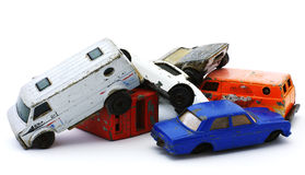 Old car wrecks Stock Photo