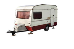 Old caravan royalty free stock photo