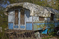 Old caravan Stock Photography
