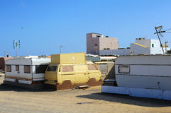 Old caravans Royalty Free Stock Photography