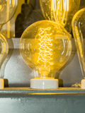 Old carbon light bulb Filament Royalty Free Stock Photos