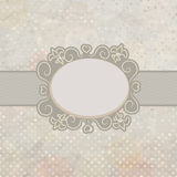 Old card design, blue vintage frame. EPS 8 Stock Photography