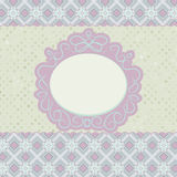 Old card design, orange vintage frame. Stock Photography