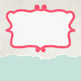 Old card design, orange vintage frame. EPS 8 Royalty Free Stock Photos